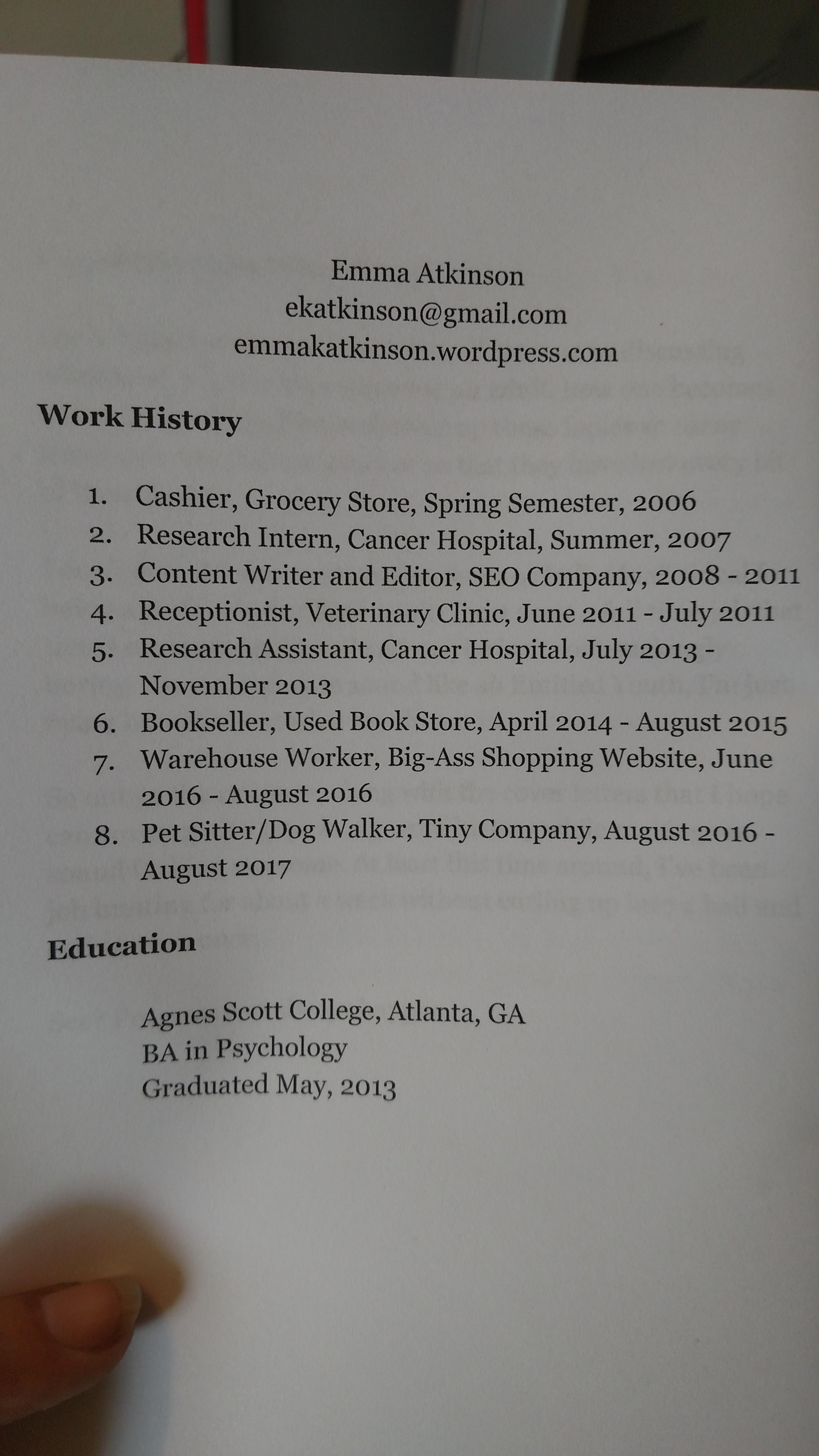 Cute Resume Job Description For Fast Food